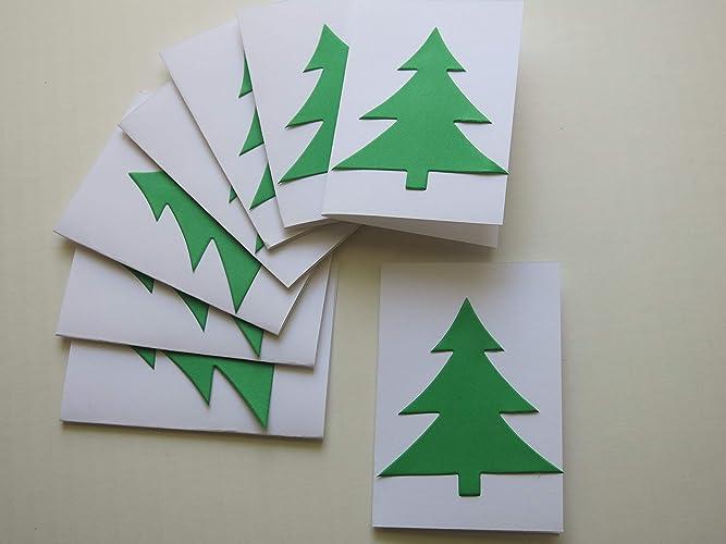 Amazon Com Christmas Tree Mini Note Cards Folded Memo Gift Tags