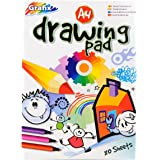 A4 Plain Drawing & Colouring Pad - 80 Sheets = 160 Pages - Padded - Size 297mm x 210mm