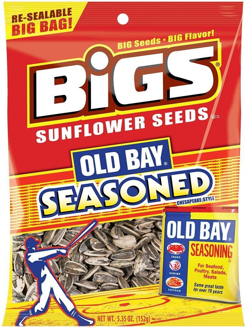 BIGS Old Bay Seasoned Sunflower Seeds, 5.35-ounce Bag (Pack of 3)