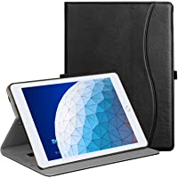 "Ztotop Case for iPad Air 10.5"" (3rd Gen) 2019/iPad Pro 10.5"" 2017, Premium Leather Business Slim Folding Stand Folio Cover for New iPad Tablet with Auto Wake/Sleep, Multiple Viewing Angles, Black"