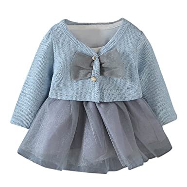 4a945fc729877 Baby Girl Clothing Clearance Winter 2Pcs Infant Toddler Baby Girls Tutu  Princess Dress+Coat Outfits