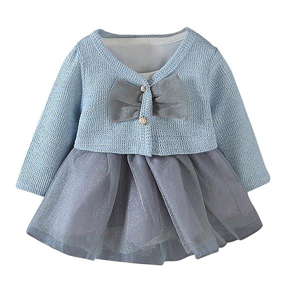 Vestidos niña,ZARLLE Otoño Infantil bebé niños niñas Vestido de Princesa de Manga Larga de