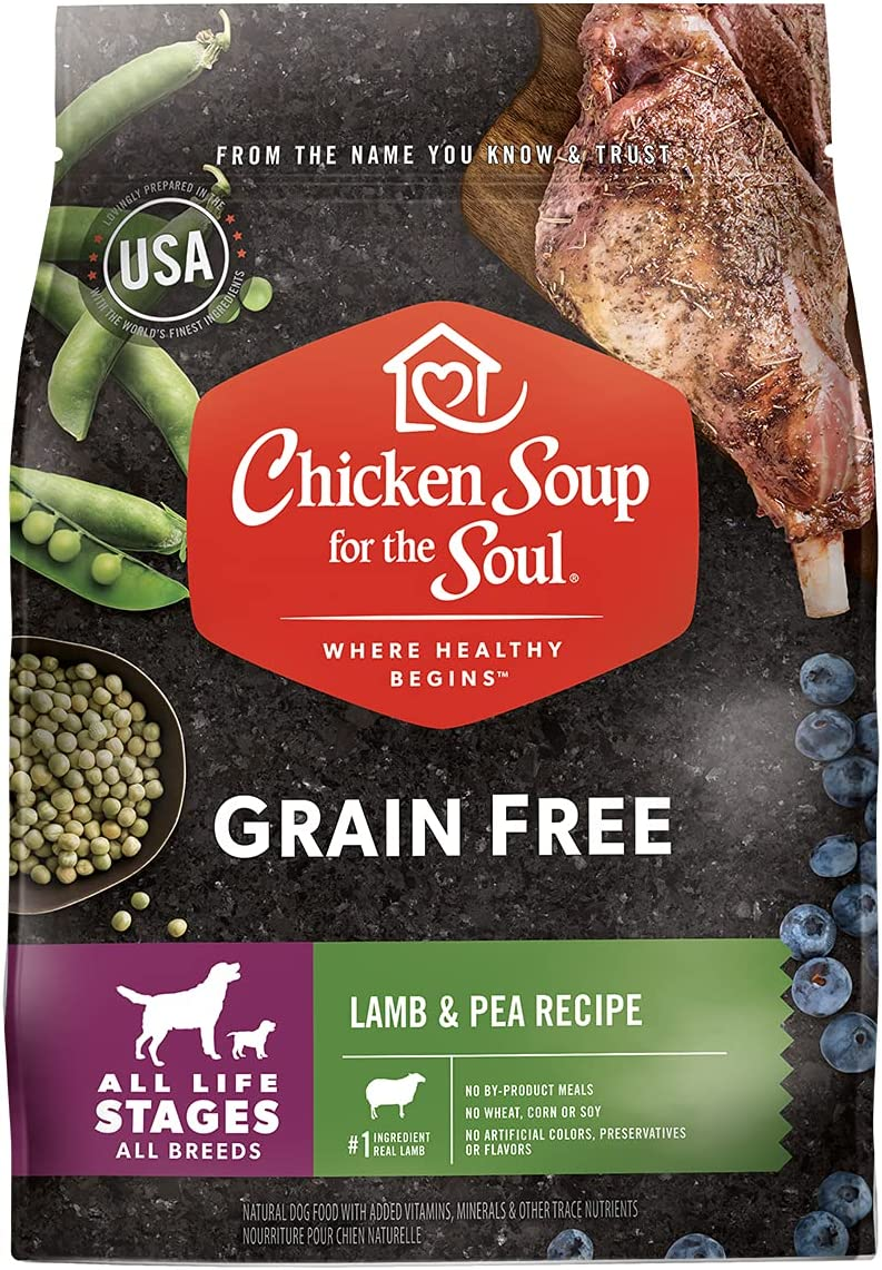 Chicken Soup for Soul Pet Food Grain Free Lamb & Pea Dog Food 25LB - Soy, Corn & Wheat Free, No Artificial Flavors or Preservatives