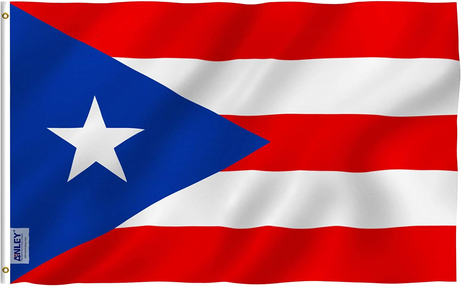 Anley Fly Breeze 3x5 Foot Puerto Rico Flag - Vivid Color and UV Fade Resistant - Canvas Header and Double Stitched - Puerto Rican National Flags Polyester with Brass Grommets 3 X 5 Ft