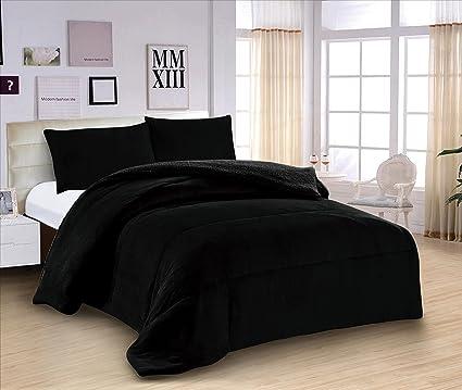 ForenTex   Edredón nórdico de 600 g, (M 3074), Negro, para cama de