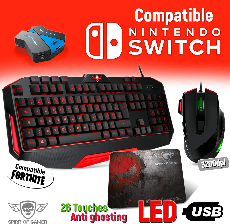 Juego de teclado y ratón Pro MK3 para Nintendo Switch – Convertidor incluido: Amazon.es: Electrónica