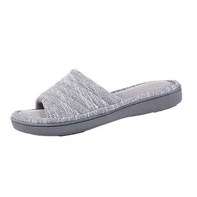 Isotoner Women's Space Knit Andrea Slide Slippers | Sandals