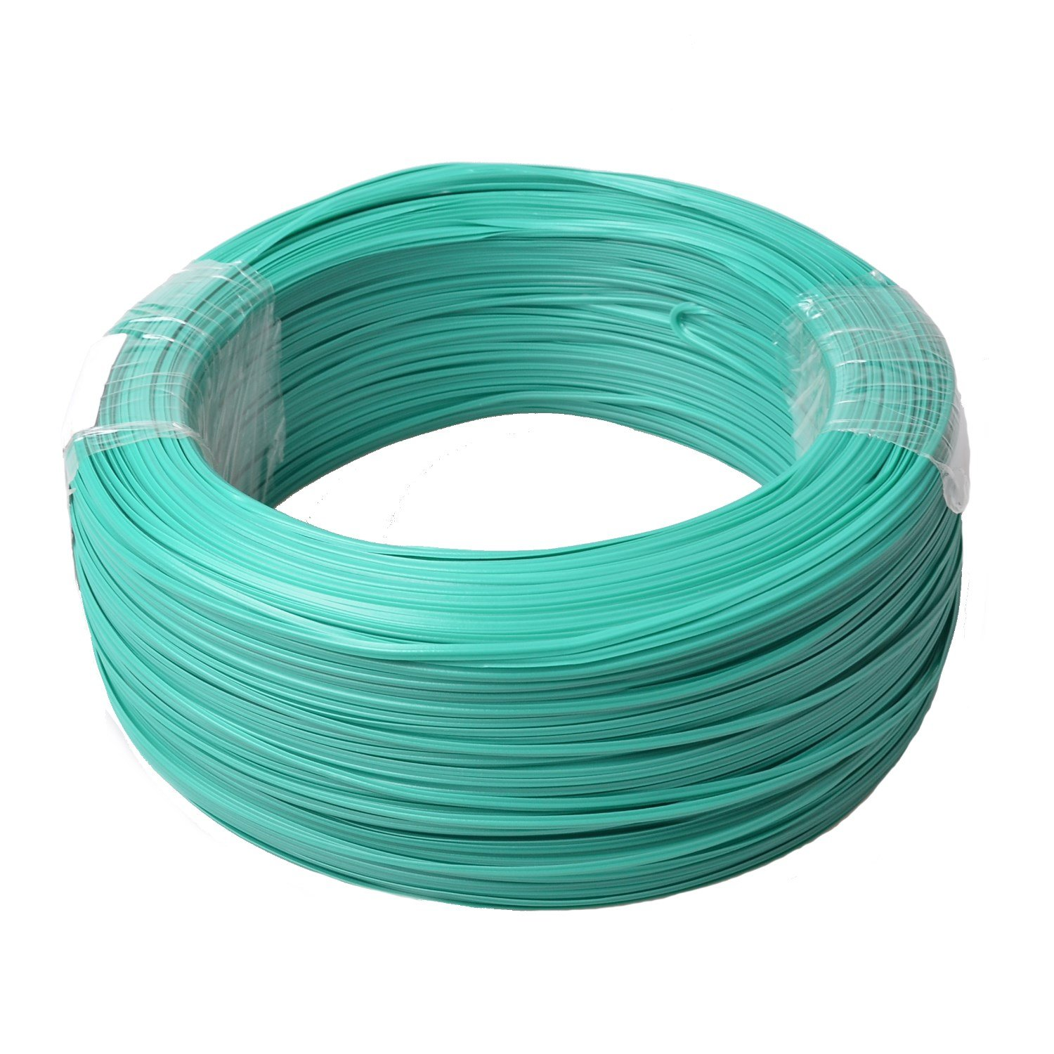 Firstcom Sturdy Gardening Plastic Twist Ties Plant Training Wire Cable Binder Roll 820 Feet (250m) Green Reusable Steel Wire Plastic Coating by Firstcom (Image #1)