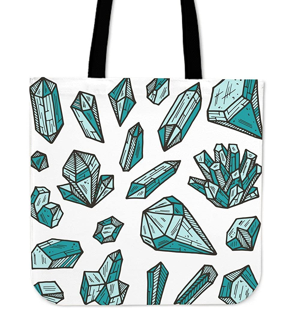 Amazon.com  Womens Casual Canvas Fabric Tote Bag - Shoulder Tote Beach Bag  - Green Crystals  Clothing 9cdcf896316f