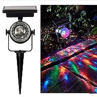 Lampe de Projection,Rameng Rotatif Coloré Projecteur Led Exterieur Solaire Lumières de Jardin