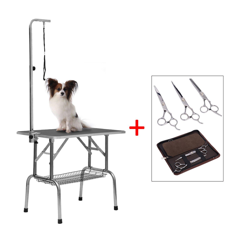 Pawhut Mesa Plegable Aseo de Perro Mascota Cepillado + Set 3 ...