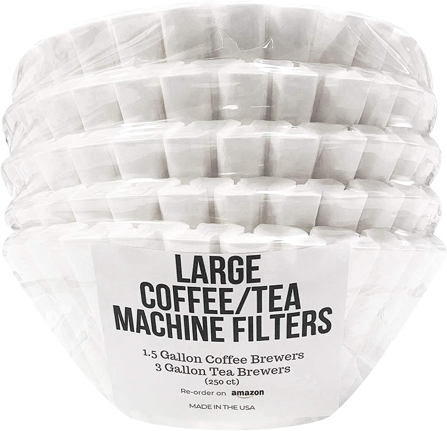 "DRINK KATY'S (13"" x 5"") Extra Large Coffee/Tea Filters for 1.5 to 3 Gallon Commercial Machines - Compatible with Bunn, Fetco & Curtis Brewers - Quality, Easy, No Mess - Bulk Pack"