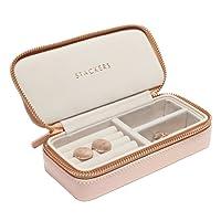 Stackers blush rosa medio scatola portagioie da viaggio