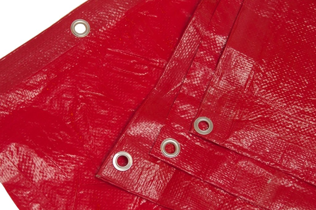 8 Ft. X 10 Ft. High Visibility RED Tarp - 3.3 Oz. by Harpster Tarps
