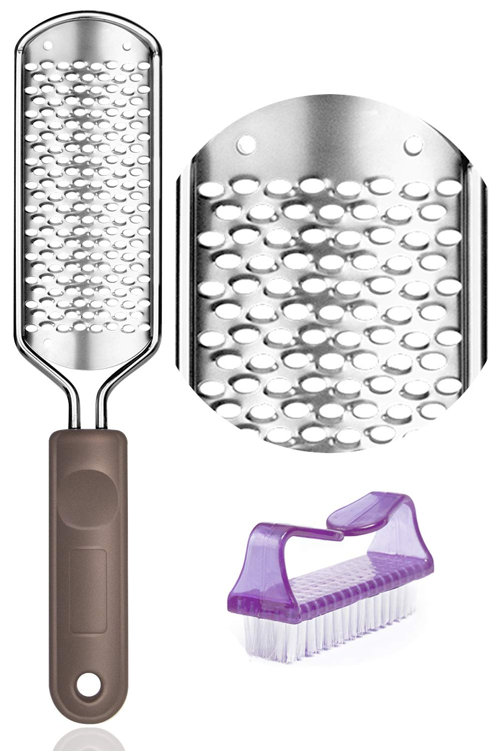 Colossal Foot Grater Foot File - Foot Rasp Callus Remover BTArtbox Large Stainless Steel Foot Scrubber Foot Care Pedicure Tools for Wet and Dry Feet