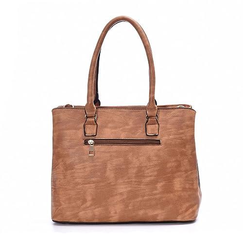 DDDH Women's Leather Designer Handbags Tote Bags Shoulder Bag ...