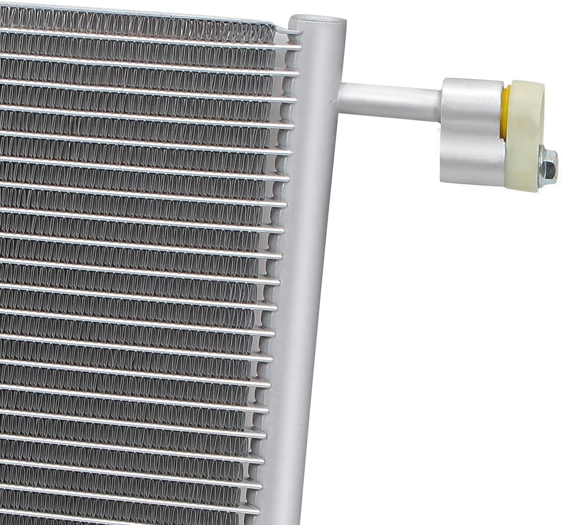 Metallic DNA Motoring OEM-CDS-4953 4953 Aluminum Air Conditioning A//C Condenser For 2000-2013 CHEVROLET CADILLAC GMC HUMMER H2