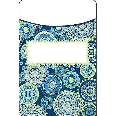 Eureka Library Pockets -Blue Harmony - Mandala : Office Products