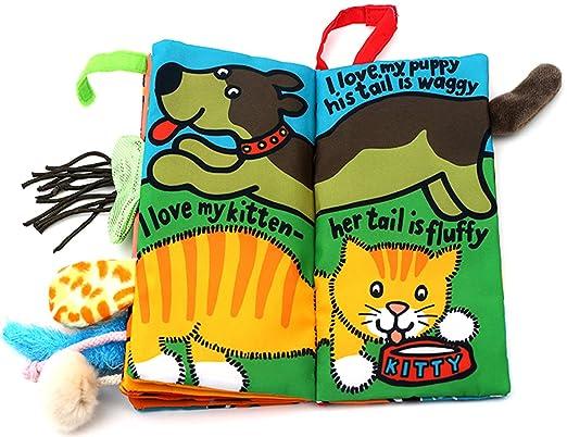 Kitty tails colas animales libro de tela beb/é de juguete Desarrollo Libros Aprendizaje y Educaci/ón