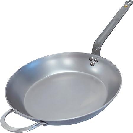 schwarz Blech De Buyer 5610.36 Mineral B Round Carbon Steel Fry Pan 14-Inch Bratpfanne