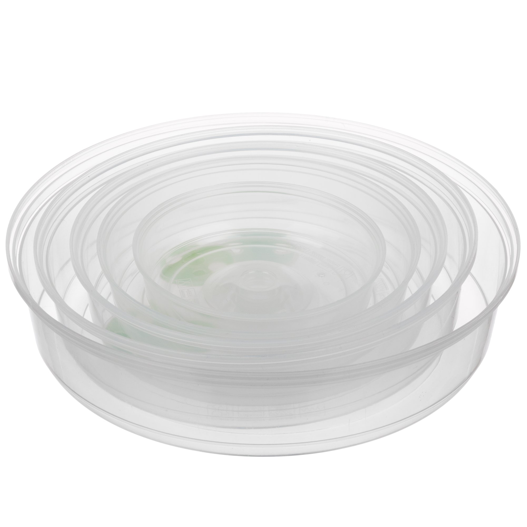Set of 5 Microwave Plate Covers with Adjustable Steam Vents; Microwave Splatter Covers