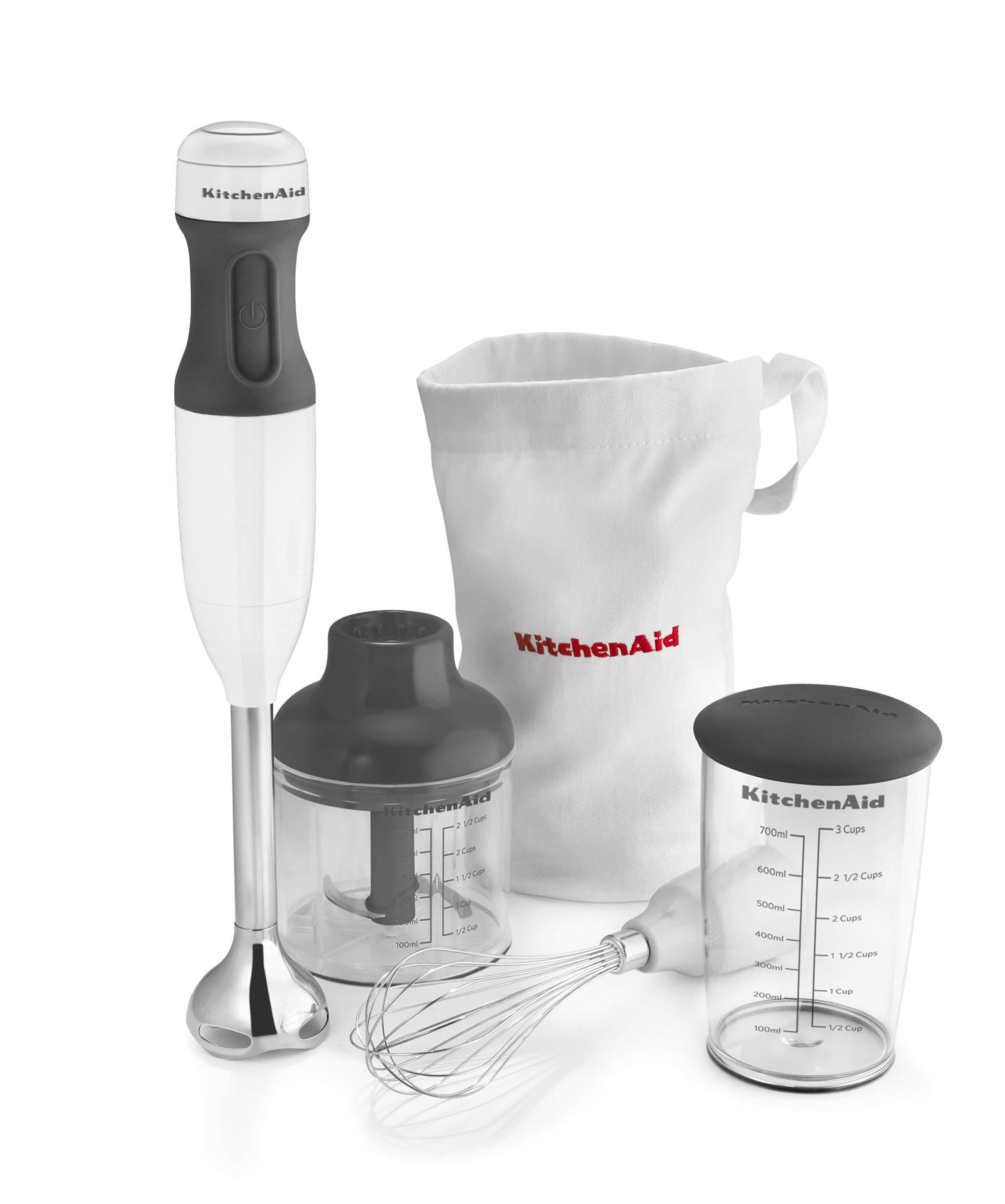 KitchenAid KHB2351WH Pro Line Hand Blender, 2 Speed, White