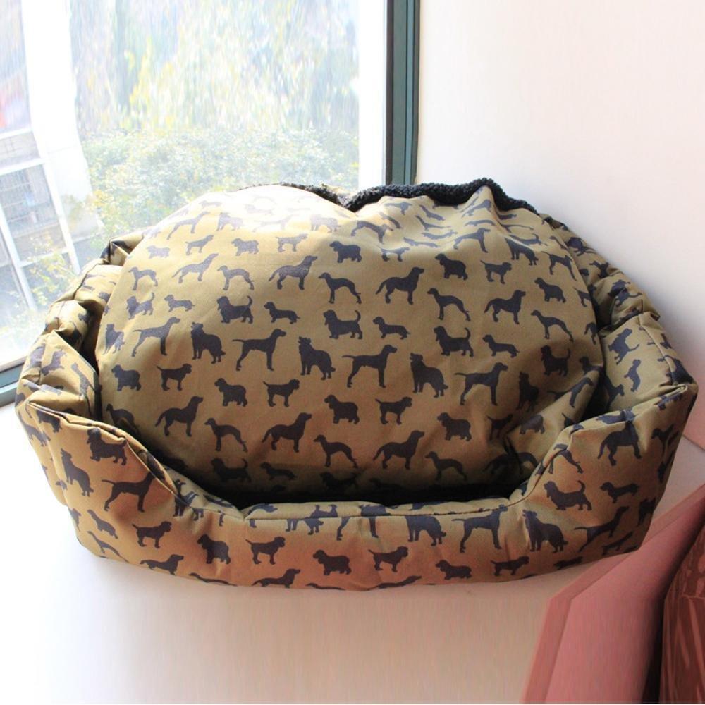 Dixinla Pet Bed Oxford Rag Kennel Washable Lamb Fleece Kennel bite Waterproof Nest mat