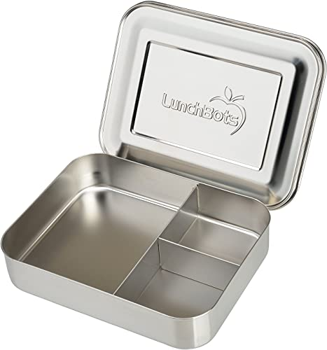 LunchBots Large Trio Stainless Steel Lunch Container