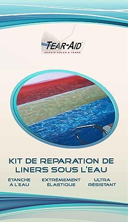 Kit de réparation instantanée et sans colle de liners de piscine et ...