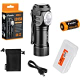 Fenix LD15R 500 Lumen Right-Angle White & Red LED Rechargeable Mini Flashlight with 1 x 16340 Battery & LumenTac Battery Organizer