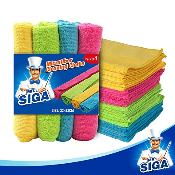 MR. SIGA Microfiber Cleaning Cloths, Size: 32 x 32cm - by MR. SIGA: Amazon.es: Hogar