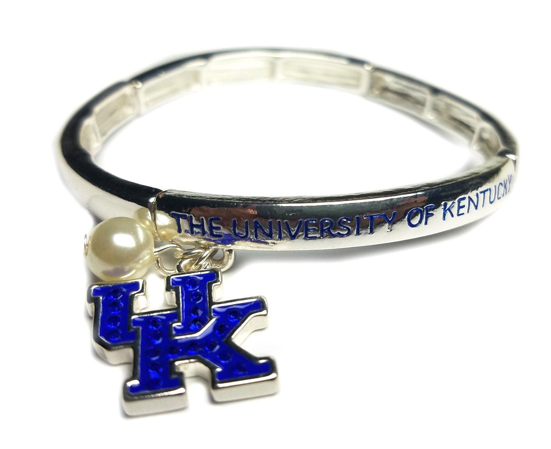 Nitro USA NCAA Kentucky Wildcats Women's Rhinestone UK Stretch Bracelet