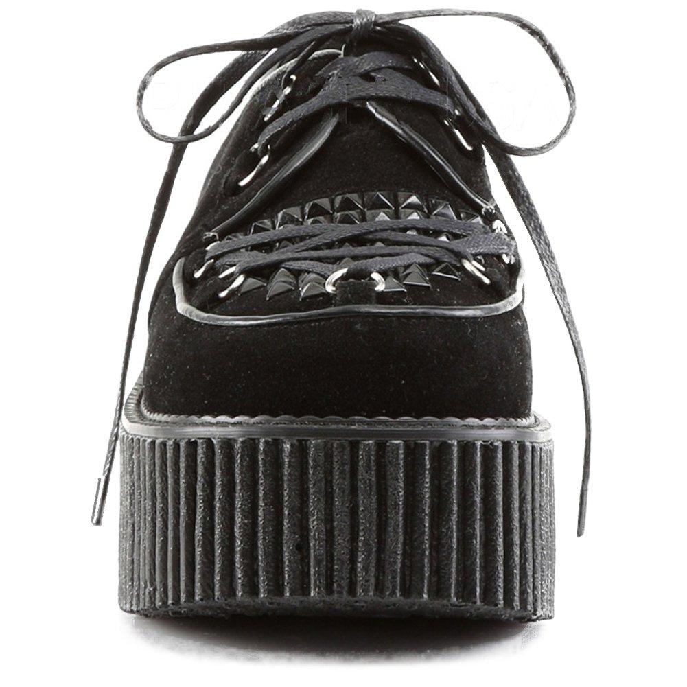ec0749f2b1d Women s Demonia Creeper-216 Platform Vegan Suede Shoe Black 10  Amazon.ca   Shoes   Handbags
