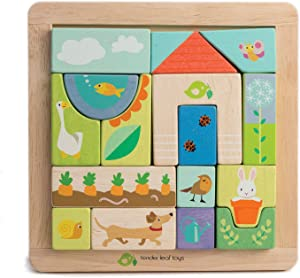 Tender Leaf Garden Patch Puzzle - Wooden Picture Matching Game