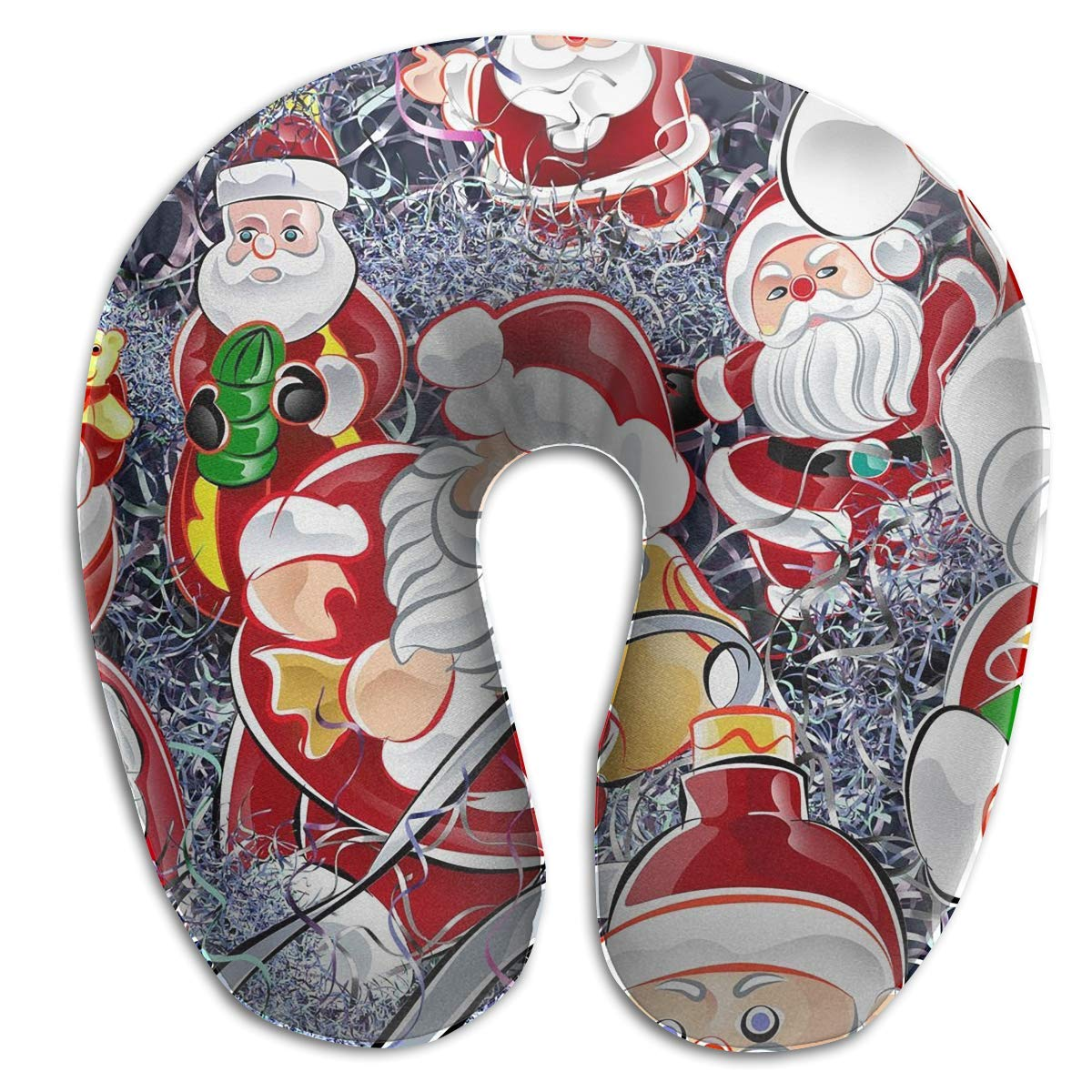 Xdevrbk U-Shaped Neck Pillow Smiles Holiday Pillows Soft Portable for Travel Reading Sleeping