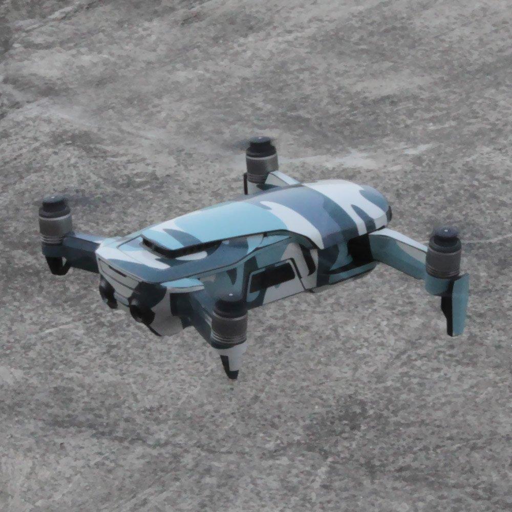 Camouflage Camouflage bleu Cr/âne Corps du Drone et T/él/écommande Wrap Decal Autocollant Protecteur de Couverture pour DJI Mavic Air TELESIN Fibre de carbone Doodles