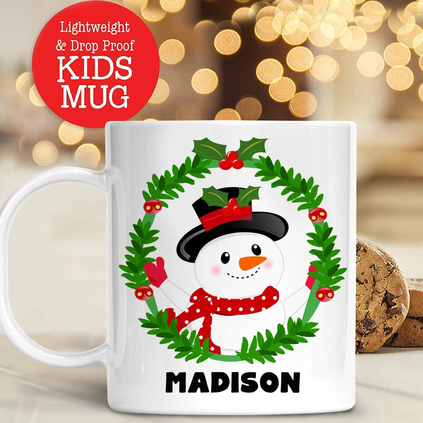 Amazon.com: Kids Personalized Christmas Reindeer Mug with Name ...