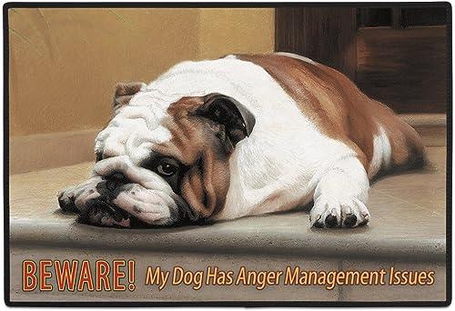 Fiddler s Elbow FED18 Beware Anger Management Dog Doormat