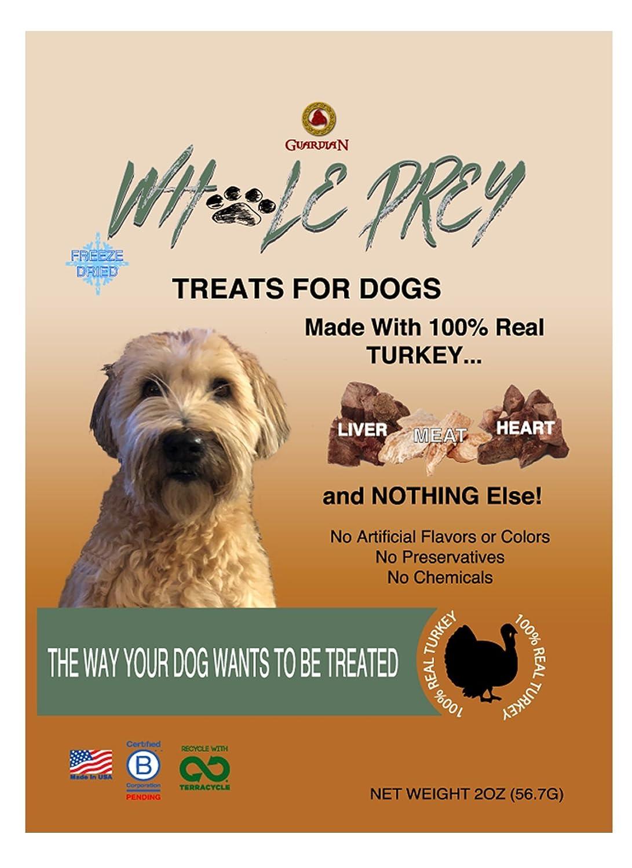 Whole Prey Turkey Treats For Dogs (Case = 8 X 2Oz. Pouches)
