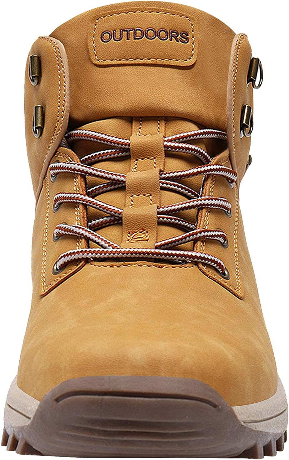 Caitin Mens Insulated Cold-Weather Boots Durable Hiking Boots Camel