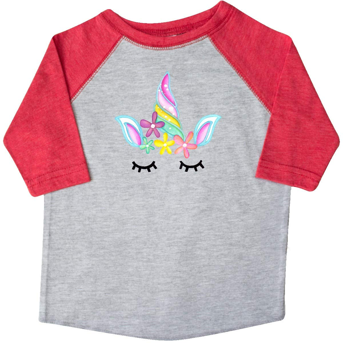 inktastic Unicorn Face Toddler T-Shirt