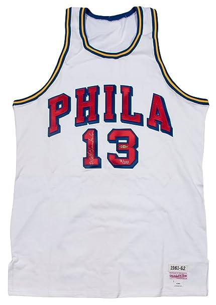 promo code b9eb5 1d1e5 Beautiful Wilt Chamberlain Signed 1961-62 Philadelphia ...