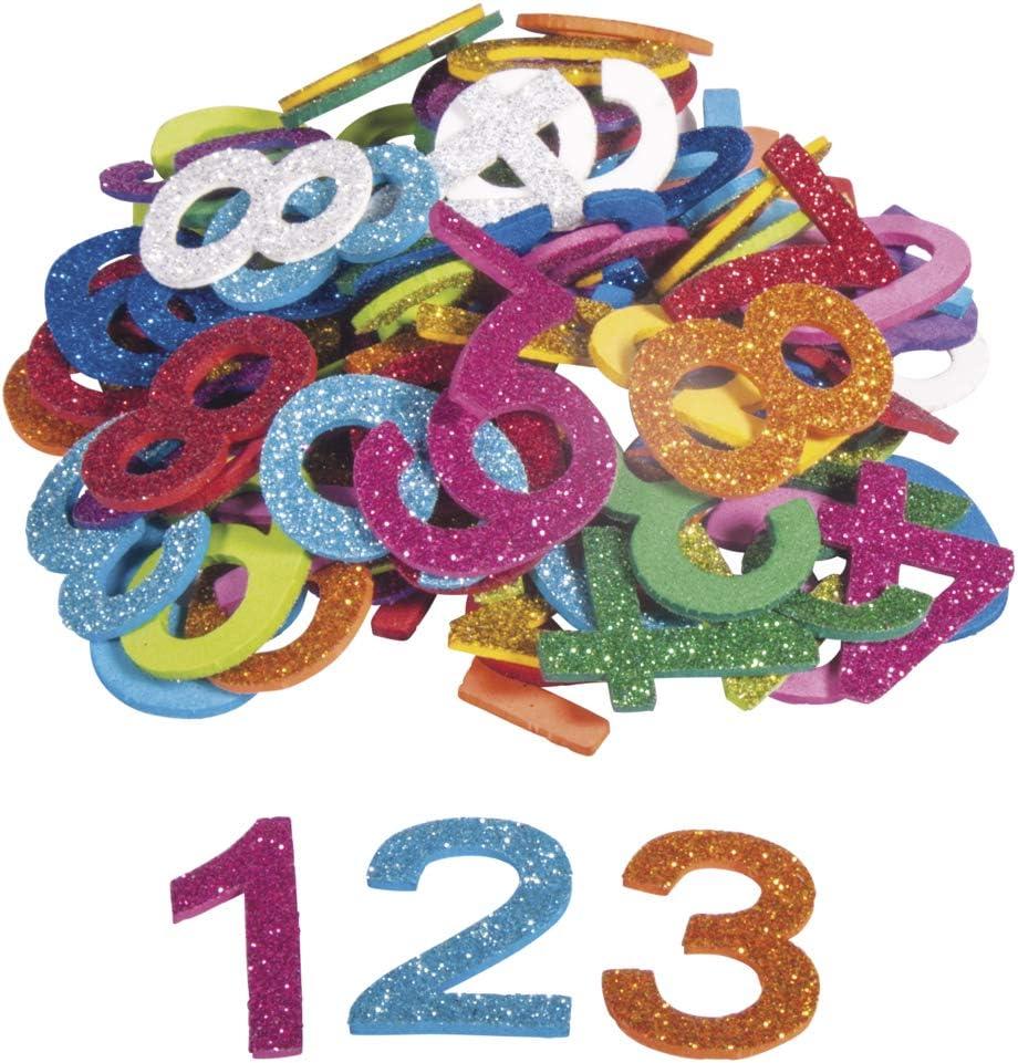 Moosgummi ZAHLEN groß 150 Stück Moosgummizahlen basteln ausgestanzt viele Farben