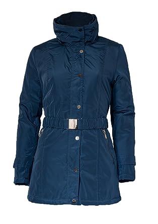 4b6cb55ebf86b Rapidoshop - Parka Imperméable Femme Capuche PA8809 Bleu (42, Bleu)