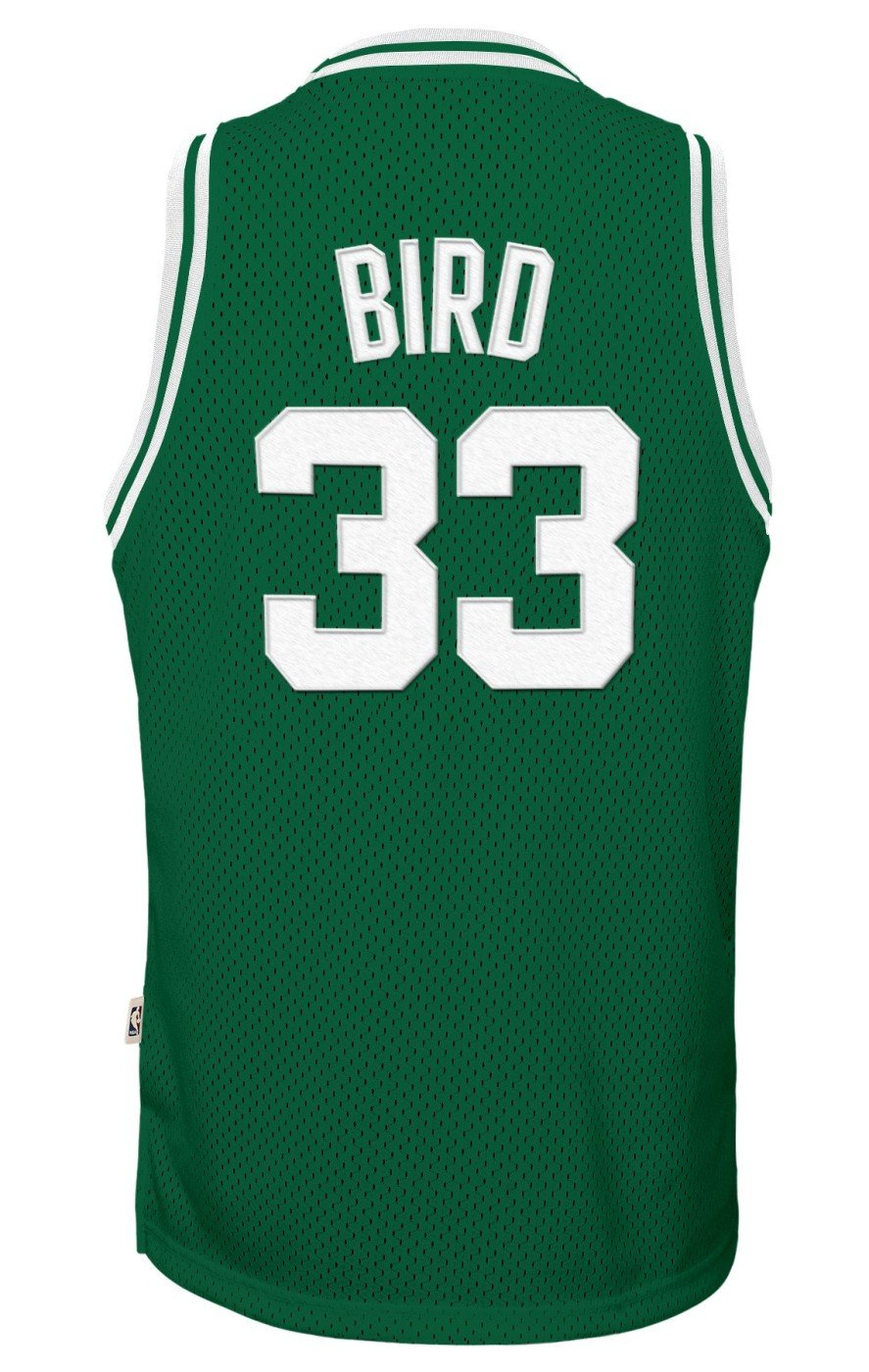 d23fd90cd Amazon.com   Genuine Stuff Larry Bird Boston Celtics NBA Youth Throwback Swingman  Jersey - Green   Sports   Outdoors