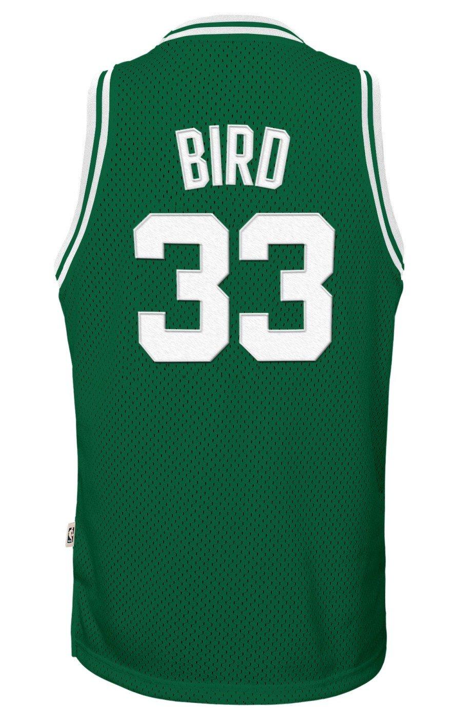 32b80ec01ae Amazon.com : Genuine Stuff Larry Bird Boston Celtics NBA Youth Throwback  Swingman Jersey - Green : Sports & Outdoors