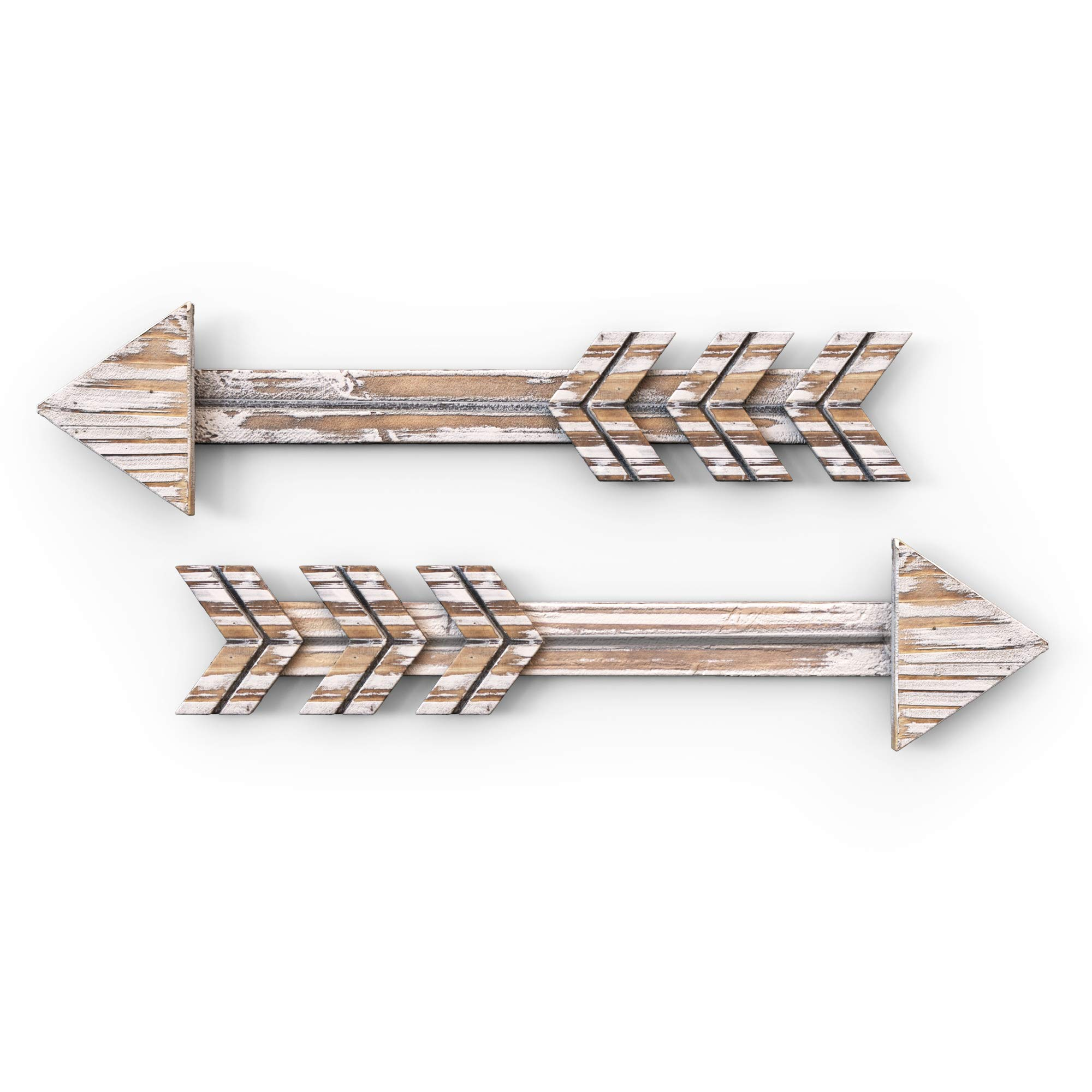 Set of 2 Arrow Wall Decor Rustic- Farmhouse and Home Hanging Decoration by Treasures Deck