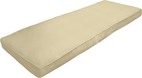 Amazon Custom Furnishings x Easy Way Products 20688 Custom Zipped Double Piped Bench Cushion