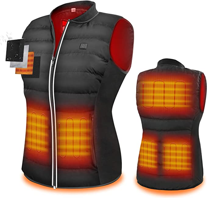 Fall Winter Warm Clothes Adjustable Temperature Vest Jacket for Outdoor Motorcycle Skiing Hiking Intelligent Electric USB Charging Heated Vest for Men and Women shenruifa Electric Heated Vest