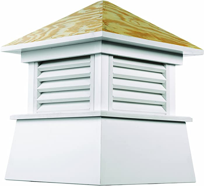 """Good Directions Kent Vinyl Cupola with Wood Roof 18"""" x 22"""""""